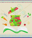 Cooking book cover illustration Stock Photography