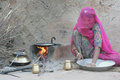 Cooking chapati jodhpur india may indian young woman preparing food many of indian rural women food traditional style in village Royalty Free Stock Photography