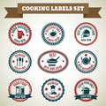 Cooking chef labels Royalty Free Stock Photo
