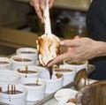 Cooking Chocolate Molten Cakes Stock Photos