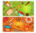 Cooking Classes Banners Set