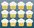 Cooking emoticon smile stickers