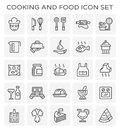 Cooking food icon Royalty Free Stock Photo