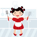 Cooking girl Royalty Free Stock Photos