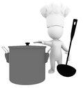 Cooking high class rendered figure for perfect message transportation Royalty Free Stock Photography