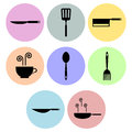 Cooking icon designs a set of for graphic element use Stock Photo