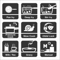 Cooking icon in format line drawing Royalty Free Stock Image
