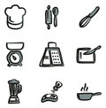 Cooking Icons Freehand 2 Color