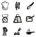 Cooking Icons Freehand Fill