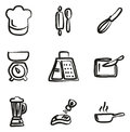 Cooking Icons Freehand