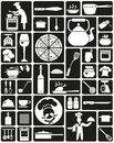 Cooking icons with image of chefs and utensils for Royalty Free Stock Images