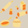 Cooking icons an image of flat Royalty Free Stock Photography