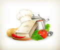 Cooking illustration computer illustration on white background Royalty Free Stock Images