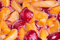 Cooking jam from apricots and plums Royalty Free Stock Photo