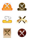 Cooking logo set Royalty Free Stock Images