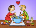 Cooking with love Royalty Free Stock Photography