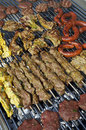 Cooking meat barbecue Royalty Free Stock Photos