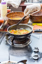 Cooking Omelet in Pan Royalty Free Stock Photo