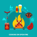 Cooking On Open Fire Royalty Free Stock Photo