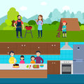 Cooking People Horizontal Banners
