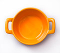Cooking pot orange small Stock Photos