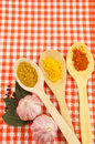 Cooking recipe concept food ingredients tablecloth Royalty Free Stock Photography