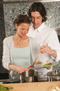 Cooking together Royalty Free Stock Images