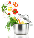 Cooking with vegetables Stock Photos