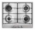 Cooktop light gray cooking panel on a white background Stock Photos