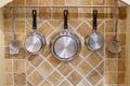Cookware set a nice arrangement Royalty Free Stock Photography