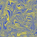 Cool abstract liquid wallpaper. combination of blue and yellow. Digital liquid abstract illustration