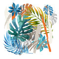Cool abstract painting. Modern watercolor illustration