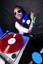 Cool afro american DJ Royalty Free Stock Photo