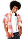 Cool black man with headphones Royalty Free Stock Photography