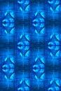 Cool blue martini glass pattern Stock Photos