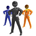 Cool businessman team work Stock Photography