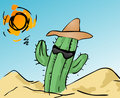 Cool cactus Stock Photography