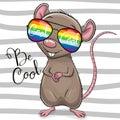 Cool Cartoon Rat with sun glasses