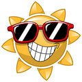 Cool Cartoon Sun sunglasses Royalty Free Stock Photo