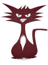 Cool cat angry and mad red illustration Royalty Free Stock Images