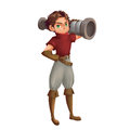 Cool Characters Series: Cannon Boy isolated on White Background Royalty Free Stock Photo