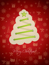 Cool christmas greeting with green laces Stock Image