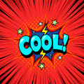 Cool comic book speech bubble background Royalty Free Stock Photo