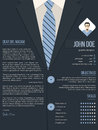 Cool cover letter resume template with business suit background cv design Royalty Free Stock Images