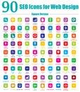 90ikony dizajn internetových stránok námestie verzia