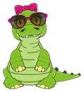 Cool crocodile girl Royalty Free Stock Photo