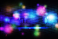 Cool disco design on black background Stock Images