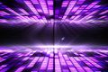 Cool disco design in purple Royalty Free Stock Image
