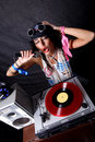 Cool DJ in action Royalty Free Stock Photos