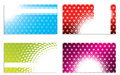 Cool dots and halftones business card set of Stock Photo